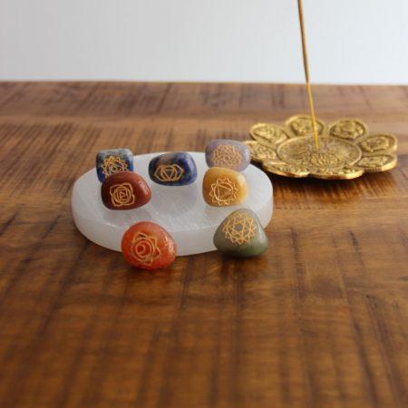Chakra stenen set rond